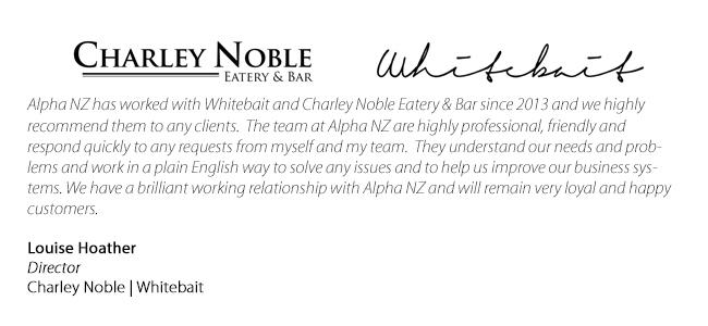 Testimonial - Charley Noble Whitebait